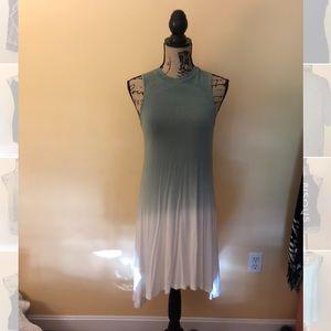 Green Ombré Midi Dress